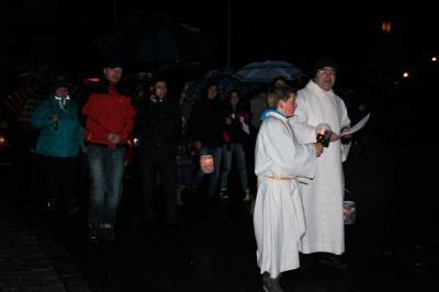 Martinszug zur Pfarrkirche